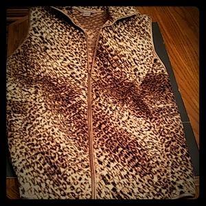 Plus Size Women's Leopard Print Vest